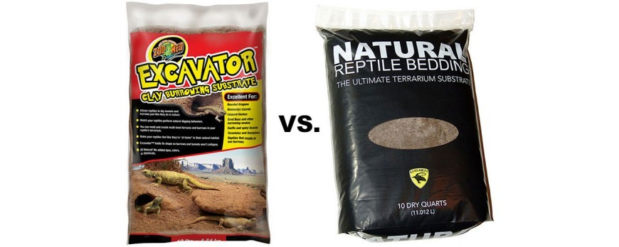 Excavator Clay vs. Natural Reptile Bedding