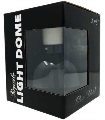 Reptile Light Dome - Gloss Black - 5 1/2""