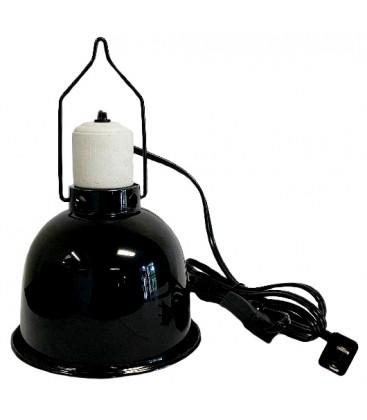 """Reptile Light Dome - Gloss Black - 5 1/2"""""""