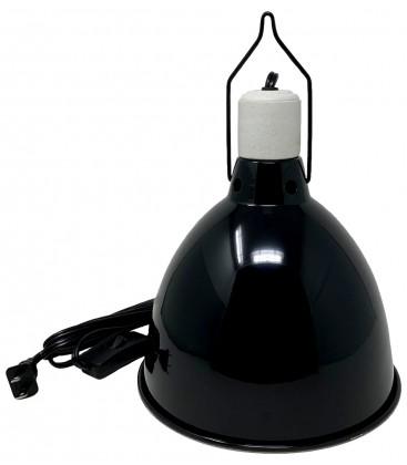 """Reptile Light Dome - Gloss Black - 8 1/2"""""""